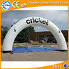 Round shape inflatable archway, white inflatable arch for advertisement