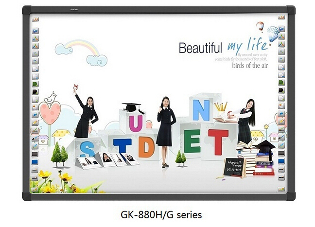 CE GAOKE white teaching board 82'' 96'' 104'' 130'' school writing board factory sale ir interactive whiteboard