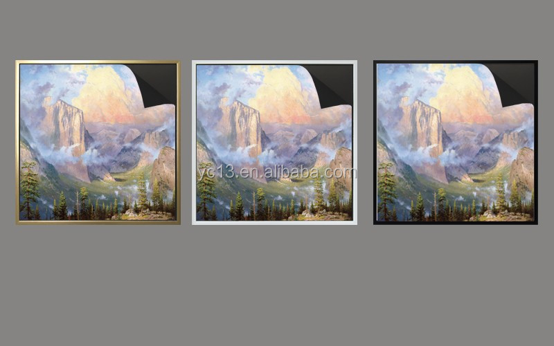 print magnetic painting picture Thomas kinkaides 1013-173 painting and golden magnetic frame