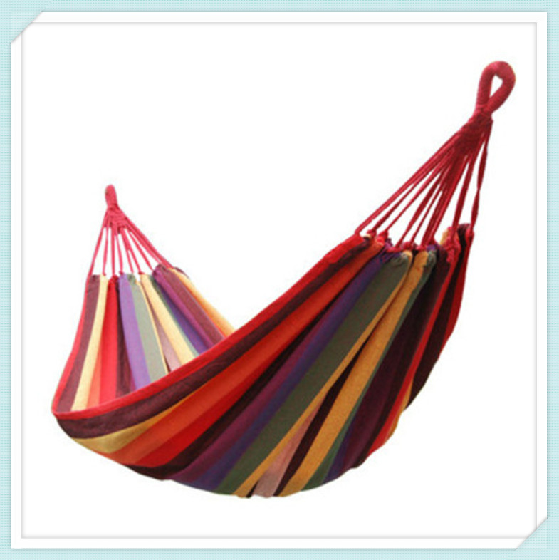 outdoor hammock swing new wood stick canvas double indoor thickening widened Single hammock