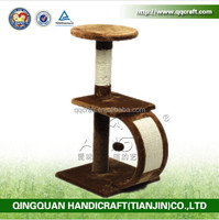 wholesale free sample SGS rattan wicker cat house with sisal rope