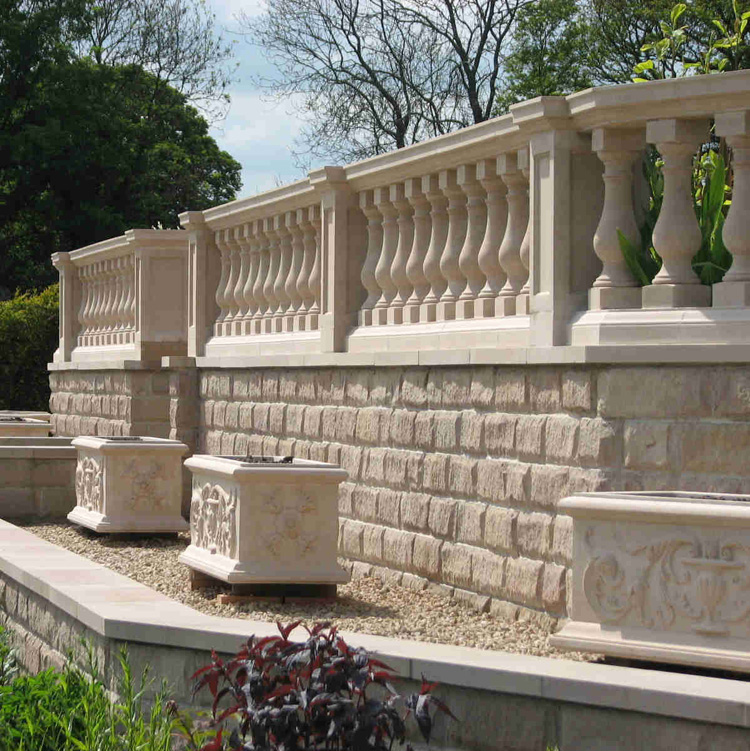Modern european style marble banisters and railings for hourse or building art