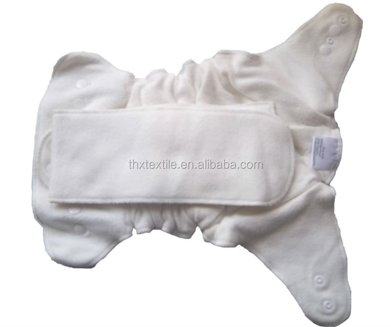 Ready Made-Bamboo organic cotton fleece fitted diaper