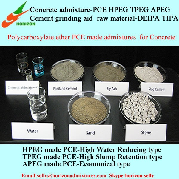High Range Concrete Water Reducer / Super Plasticizer Polycarboxylate ether