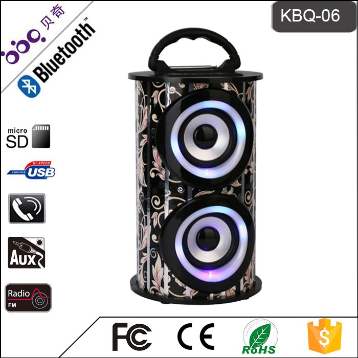 LED flash lighting outdoor bluetooth speakers portable