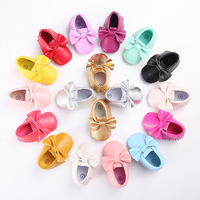 factory fringe pu leather moccasins tassel baby shoes wholesale discount
