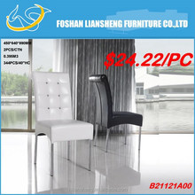 FASHIONABLE DESIGN BLACK AND WHITE PU WITH DECORATION DIAMONDS CHAIR WITH CHROME LEGS