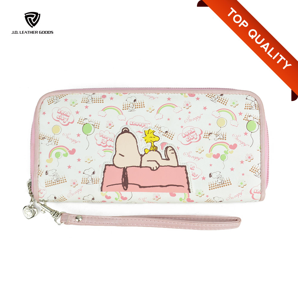 Printed Cartoon Wrist Strap Coin Purse Wallet/Blank Sublimation Zip Wallet