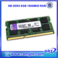 ETT original chips 512mb*8 ddr3 8gb laptop memory 204 pin