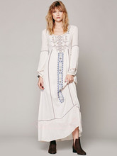 B10368A People Fashion Free Feel Linen Dress Summer Cotton Maxi Dresses