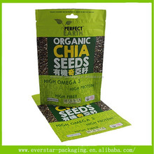 Wholesale Organic Chia Seeds Packaging Stand Up Plastic Ziplock Bag