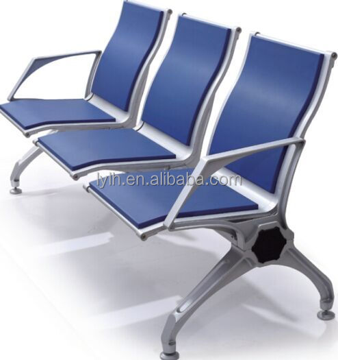 High quality metail airport three seat waiting chair