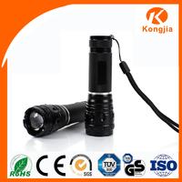 High Power Portable Aluminium Convex Lens Zoomable AAA Battery 9v Blocklite Led Flashlight