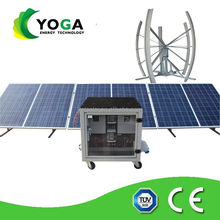 8kw complete containers house solar wind hybrid power system/wind turbine with solar panel for home used .