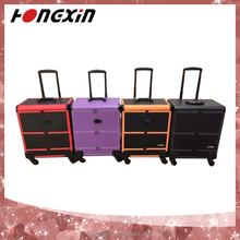 professional empty soft trolley train bulk products makeup case with mirror from china