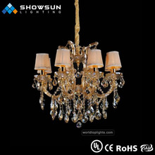 Crystal 8 lights lampshade arabic style pendant light