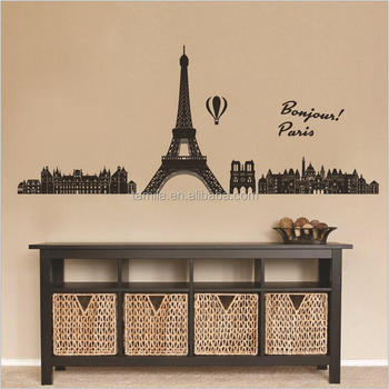 Home Decorative Paris Eiffel Tower Wall Stickers