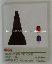 "40CM black PP traffic cone/16"" folding retractable safety cones"
