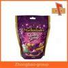 Stand up custom printing resealable foil bag for food packaging with euro hole