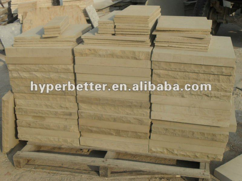 Natural yellow sandstone drywall stone