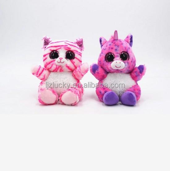 Dongguan factory customize ty big eyes plush animal oem stuffed toy