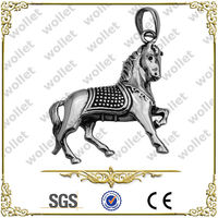 Shenzhen Fashion Wholesale Stainless Steel horse pendant chinese zodiac