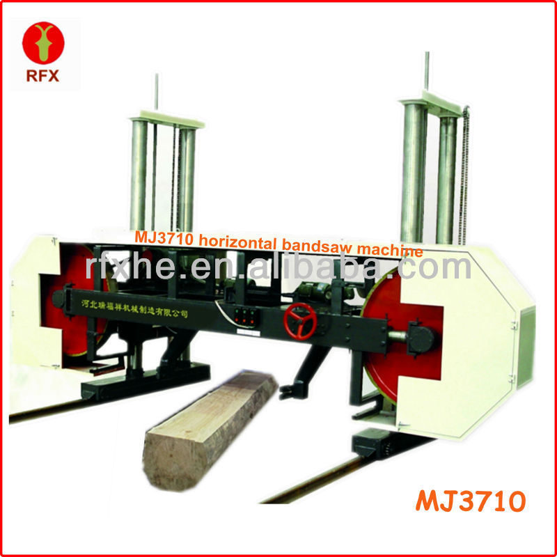 MJ3710 woodworking horizontal band saw sawmill