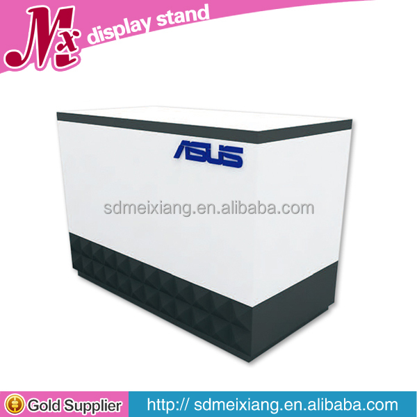 MX-UG009 High glossy mdf wooden supermarket checkout counter for sale for chain store