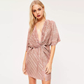 custom stripe chiffon dress for women