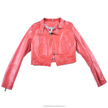 Adults Age Group Winter and Autumn Season Fashionable New style petite cropped leather jacket for women