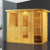 HS-SR005 finland pine hot sale full hd sek tv sauna,family sauna house