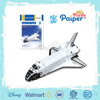 Educational diy paper 3d plane toy for children puzzle model aircraft
