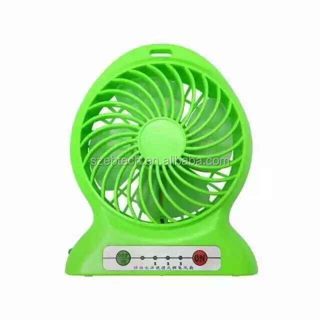 shenzhen factory produce new portable battery usb fan with power bank