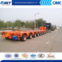 2015 cement cubic transportation multi-axle hydraulic truck trailer for sale