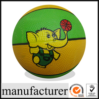 GY-L030 Colorful Rubber Basketballs, High Quality rubber bladder