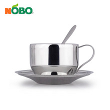High quality stainless steel wholesale tea cups and saucers with spoon