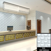 Knit pattern front desk background 3d wall tiles