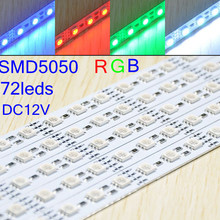 RGB/White/Warm White/Pink 72led/m 5050 smd led rigid strip light DC12V/DC24V For Christmas