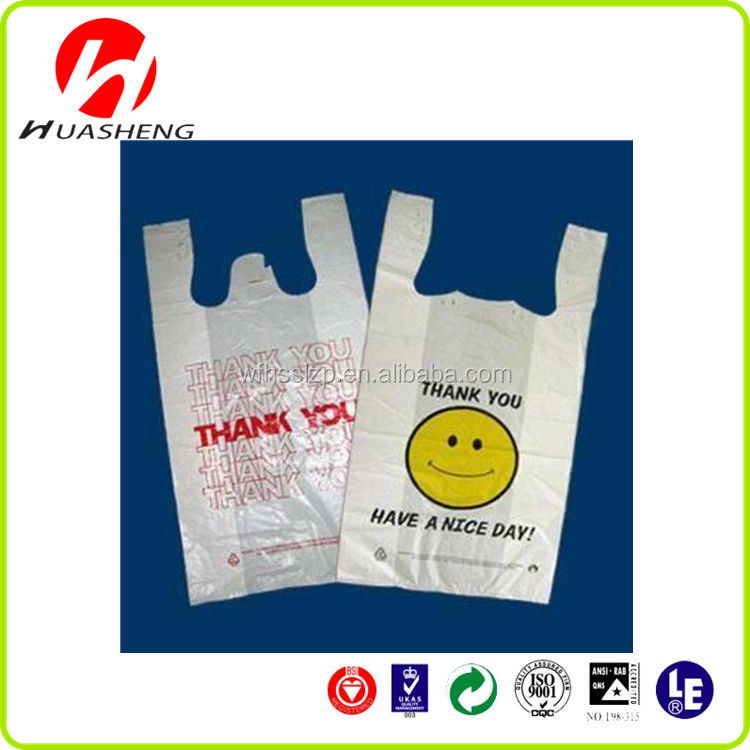Custom printed plastic t shirt bags t shirt plastic bags for Personalized t shirt bags