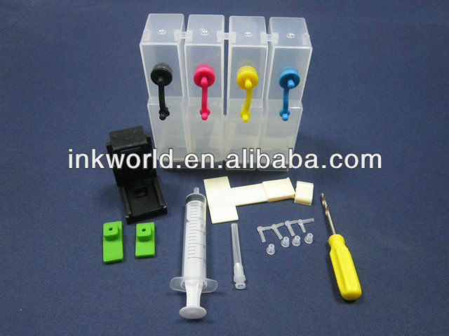 2013 newest diy ciss ink tank for hp/canon, can supply the refill tools, with accessories