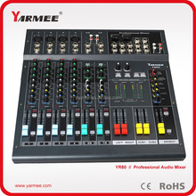 Professional 8 Channel Sound Power Amplifier Mixer from YARMEE YM80