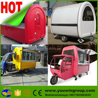 China street vending mobile hamburgers carts shawarma hotdog food cart for sale