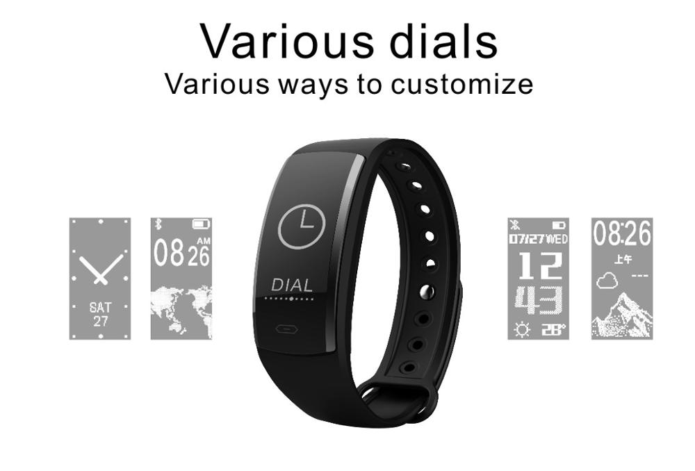QS90 Blood Pressure Smart Bracelet Heart Rate Monitor Blood Oxygen Monitor IP67 Fitness Tracker for Android IOS