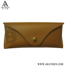 Professtional Leather sunglasses case custom embossed logo
