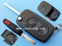 Sales Promotion Car keys wholesale 3+1 buttons flip remote case 2032 battery door key blanks