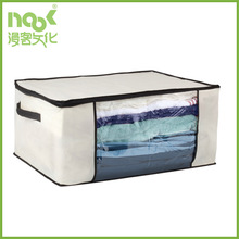 window Cream Black Blanket Storage Bag/bedclothes storage box with zipper