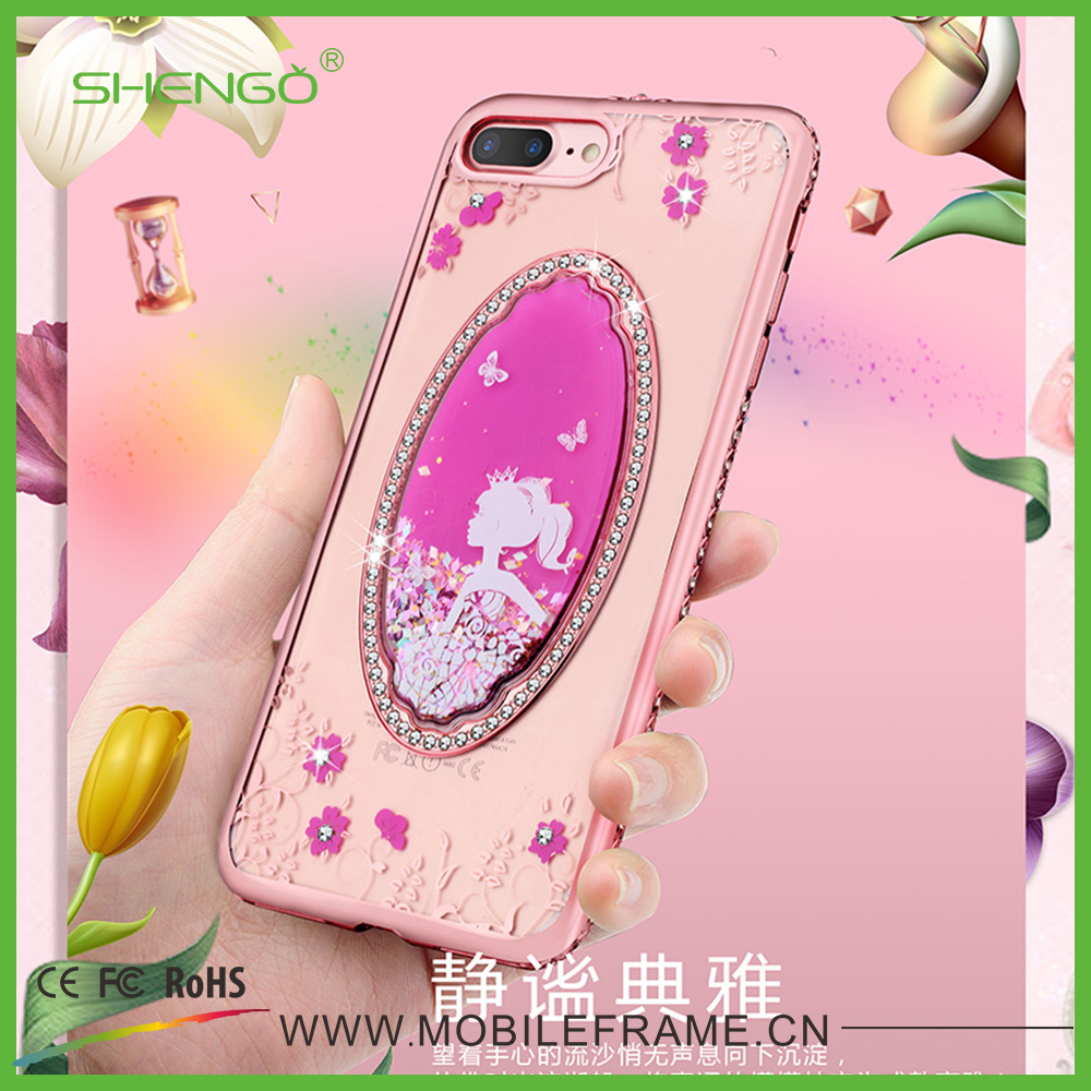 Promotional Mobile Phone Accessories Crystal Quicksand Luxury Phone Cases on Sale