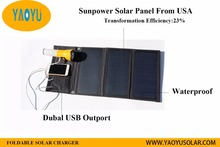 20w flexible solar panels charger bag with 2 usb port for cell phone