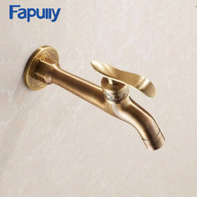 Fapully wall mounted wasserhahn garten antik brass Washing machine faucet brass single cold Water Outdoor Faucet