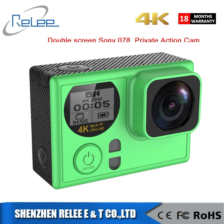 NEW ARRIVAL AT70 Remote WIFI double screen 4K action camera with sonyIMX078 sensor